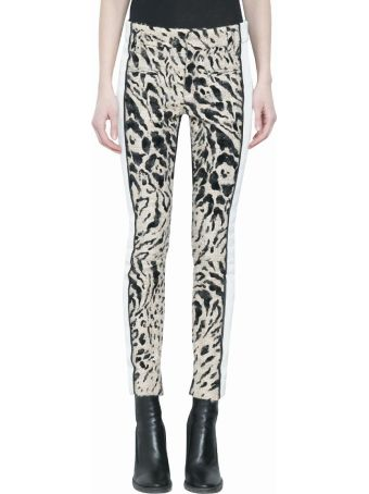 Haider Ackermann Animalier Panelled Leather Pants