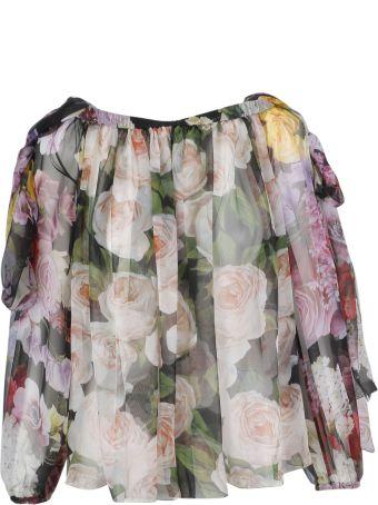 Dolce & Gabbana Rose Printed Blouse