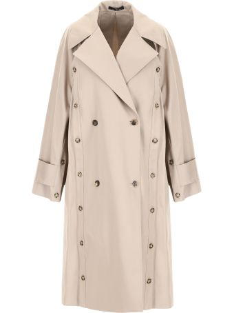 Rokh Cut-out Trench Coat