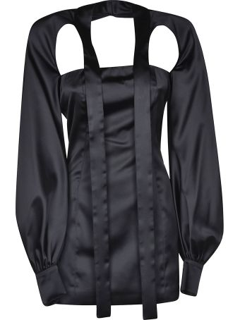 ATTICO Priscilla Tie Mini Dress