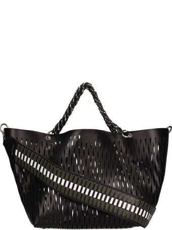 Sonia Rykiel Black Perforated Leather Bag