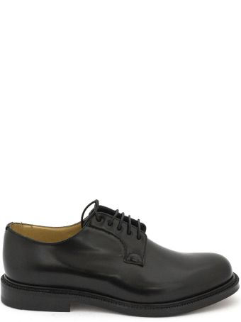 """Church's Black Smooth Leather """"shannon"""" Lace-up Shoes."""