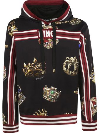 Dolce & Gabbana Crown Print Hoodie
