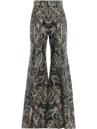 Chloé Printed Flared Trousers