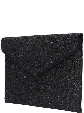 Rebecca Minkoff Leo  Clutch In Black Leather
