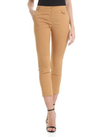 Patrizia Pepe Camel Cropped Trousers
