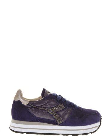 Diadora Heritage Purple Suede Sneaker