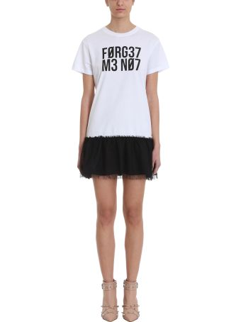 RED Valentino Forget Me Not  Encrypted Love Notes Printed T-shirt Dress