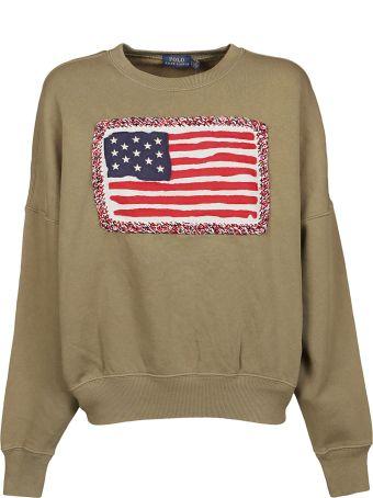 Ralph Lauren Flag Embroidered Sweatshirt