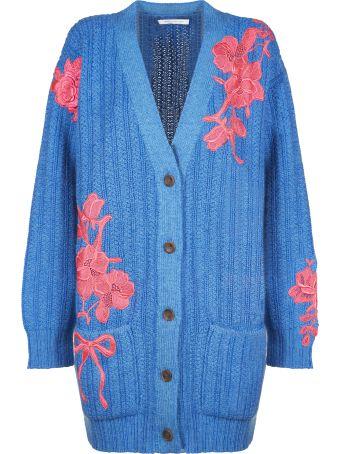 Christopher Kane Floral Embroidered Cardigan