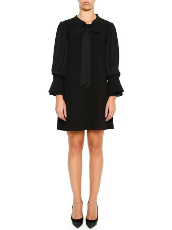 Edward Achour Paris Dress With Pleated Sleeves