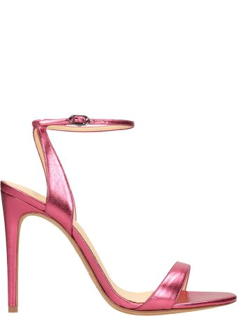 Alexandre Birman Pink Laminated  Sandals Leather