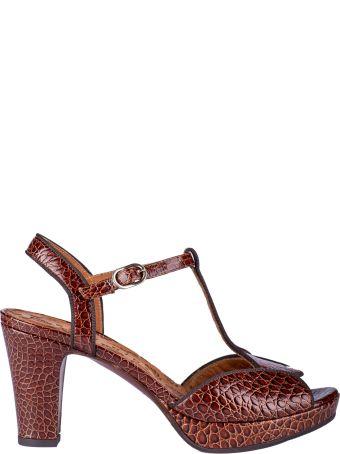 Chie Mihara Texture Block-heel Sandals