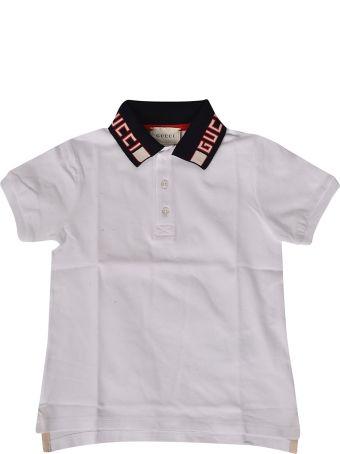 Gucci Kids Logo Collar Polo Shirt
