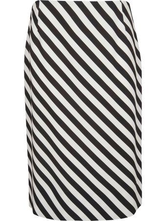 Dries Van Noten Diagonal Striped Skirt