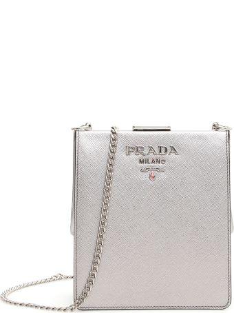 Prada Saffiano And City Calf Light Frame Bag