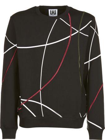 Les Hommes Stripe Detailed Sweatshirt