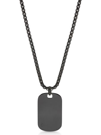 Northskull Id Tag Necklace Gunmetal