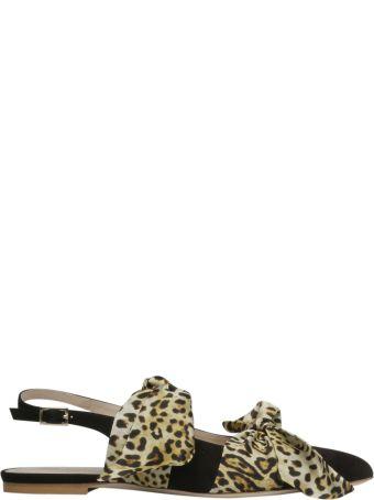 GIA COUTURE Eva Ballerina Flat Sandals