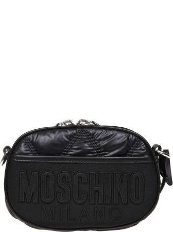 Moschino Marsupio In Black Fabric