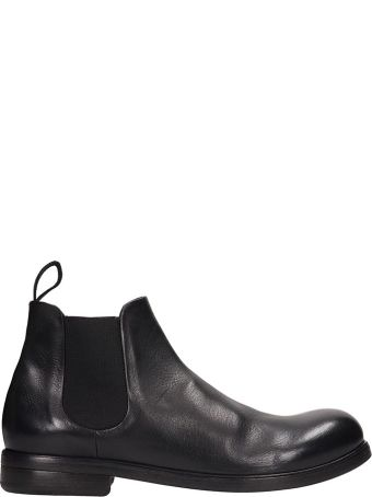 Marsell Black Leather Ankle Boots