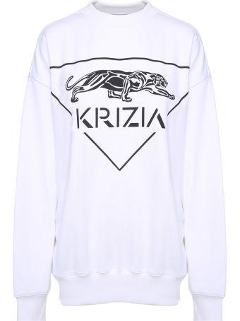 Krizia Panther-print Cotton Oversized Sweatshirt