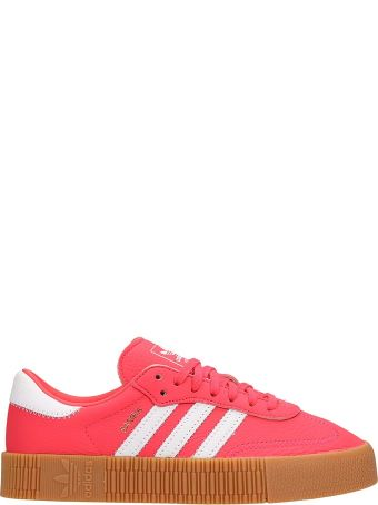 Adidas Fuchsia Leather Samba Rose W Sneakers