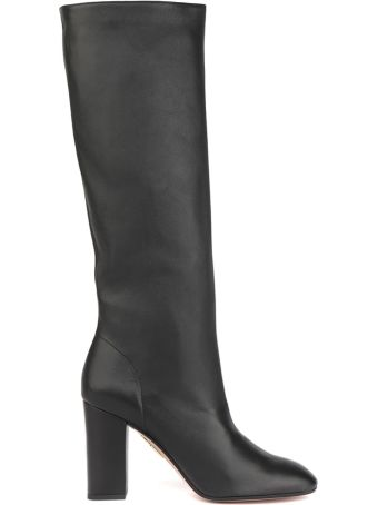Aquazzura Black Boogie 85 Leather Boots