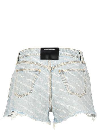 T by Alexander Wang Diagonal Logo Shorts