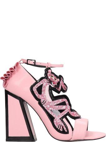Kat Maconie Pink Leather Viola Sandals