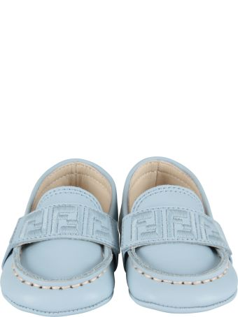 Fendi Light Blue Slip-on For Baby Boy