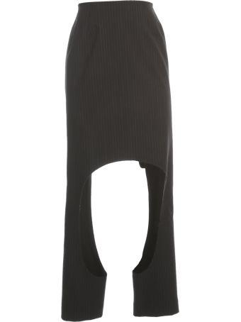 Comme des Garçons Wool Pencil Long Skirt