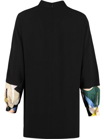Emilio Pucci Printed Twill Inserts Blouse