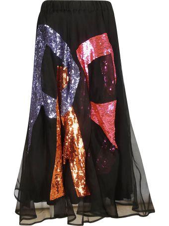 Parosh Logo Sequined Skirt
