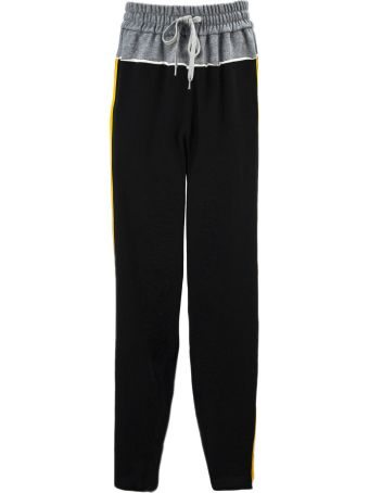 N.21 Black Cotton And Silk Blend Track Pants