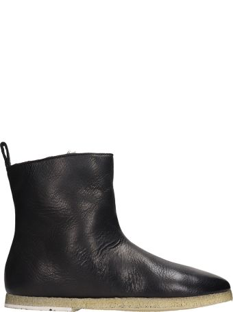 Marsell Ankle Boots In Black Suede