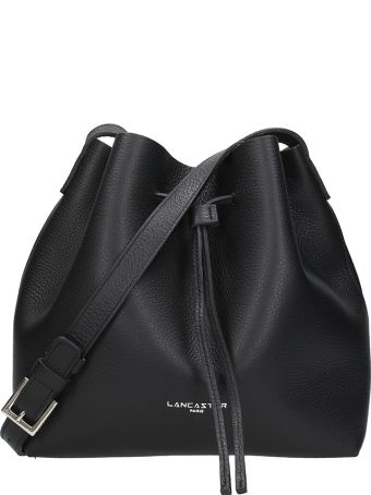 Lancaster Paris Small Bucket Black Saffiano Leather