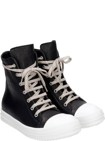 Rick Owens Sneakers Sneakers In Black Leather