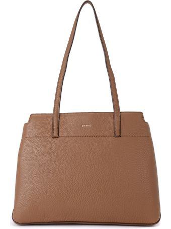DKNY Borsa A Spalla Dkny Bellah Camel Leather Shoulder Bag