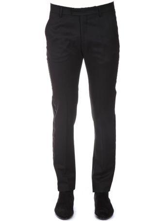 Les Hommes Black Wool Classic Pants