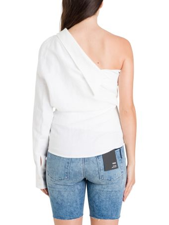 RTA One Shoulder Wrapped Top