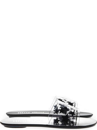 Miu Miu Transparent Sandals With Stars Details