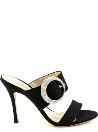Roberto Festa Black Fabric Kabotto Sandals