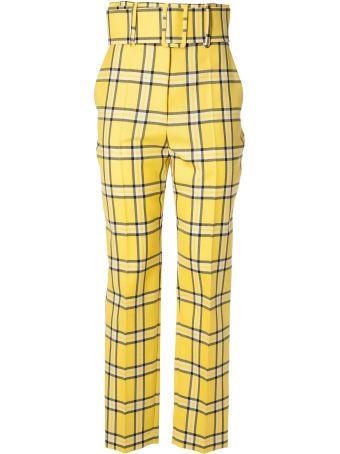 Sara Battaglia Tartan Trousers