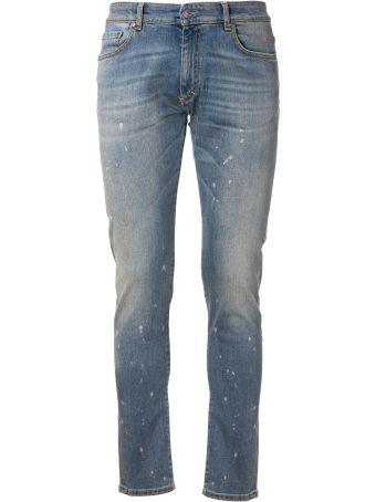 REPRESENT Distressed Slim-fit Jeans