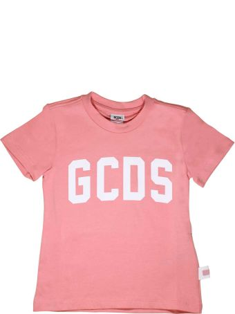 GCDS Mini Pink T-shirt With Top Gcds