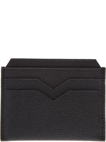 Valextra Black Leather Card Holder