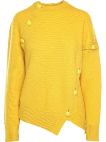 Cedric Charlier Button-embellishment Cashmere And Wool-blend Jumper