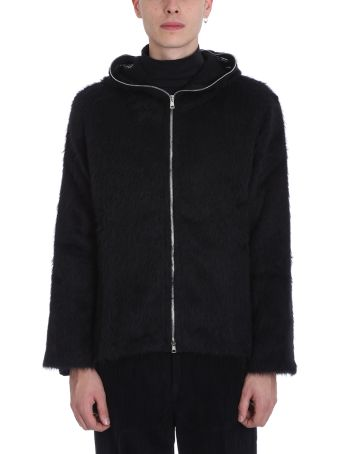 Our Legacy Black Mohair Wool Hoodie