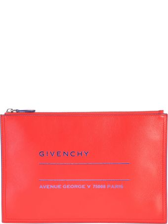 Givenchy Red Zipped Clutch